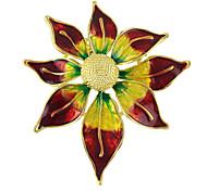 colorido esmalte broches forma de la flor del sol