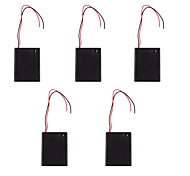 5PCS AAA 4 With A Cover With A Red And Black Battery Box Switch