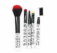 5 Makeup Brushes Set The Persian Wool Portable Plastic Face G.R.C