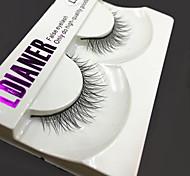 Full Strip Lashes Eyes Thick Handmade mink hair eyelash Black Band 0.10mm 12mm LD203