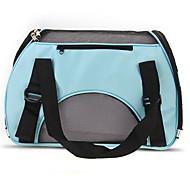 Portable Puppy Dog Cat Carry Carrier Bag Handbag Travel Blue Canvas