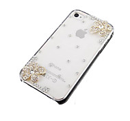 Flower with Diamond Back Case for iPhone 5/5S