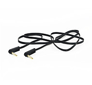 Dual 90-Degree elbow Audio Cable Car AUX Recording Cable 3.5mm Male to Male Speaker Cable