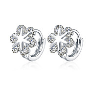 lureme Fine Jewelry 18K Gold Fashion Charms Snow Zircon Diamond Earrings