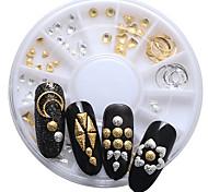 120pcs/wheel 3D Nail Art Decoration Japanese Tiny Alloy Nail Stud DIY Nails Sticker Moon/Love