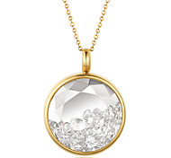 Fashion Beautiful Rhinestone Inlay 316L Stainless Steel Pendant Necklace