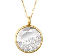 мода красивая горный хрусталь декор кулон ожерелье нержавеющей стали 316l