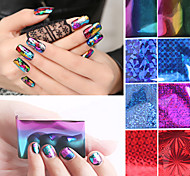 10pcs/set Nail Star Paper Stickers