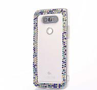 For LG G5 G4 K10 Rhinestone Case Back Cover Case Flower Hard PC For LG K7 LG K4 LG G3 LG V10