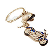 Key Chain Leisure Hobby Key Chain Motorcycle Metal Blue