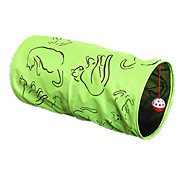 Cat Pet Toys Tubes & Tunnel Durable Green Textile