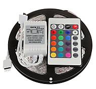 Z®zdm 5m 24w 300x2835rgb smd luce principale della striscia luce 24key ir kit di controllo remoto (dc12v)