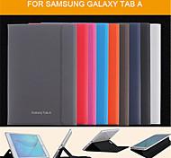 Para Funda Samsung Galaxy con Soporte / Flip / Magnética Funda Cuerpo Entero Funda Un Color Cuero Sintético Samsung Tab A 9.7 / Tab A 8.0