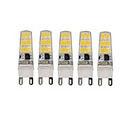 5 Pcs Con Cable Others G9 16 led Smd5733 AC220 v 650 lm Warm White Cold White DoublePin Waterproof Lamp Waterproof LED Bi-pin Lights Other
