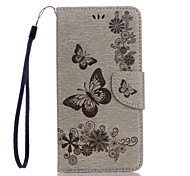 For Google Pixel XL Pixel PU Leather Material Butterfly Pattern Embossed Solid Color Phone Case