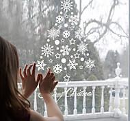 Рождество Праздник Наклейки Простые наклейки Зеркальные стикеры Декоративные наклейки на стены Наклейки на холодильник материал Съемная
