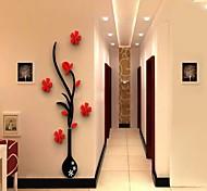 ботанический Наклейки 3D наклейки Декоративные наклейки на стены,Винил материал Съемная Украшение дома Наклейка на стену