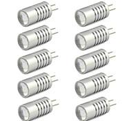 2W G4 LED Doppel-Pin Leuchten T 1 Hochleistungs - LED 190 lm Warmes Weiß / Kühles Weiß DC 12 V 10 Stück