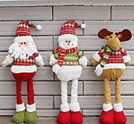 1PC Random Collapsible Hot Sale Christmas Decoration Santa Claus Snowman Christmas Figurines