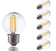3.5 E26/E27 Lampadine LED a incandescenza G16.5 4 COB 350 lm Bianco caldo Intensità regolabile AC 110-130 V 6 pezzi