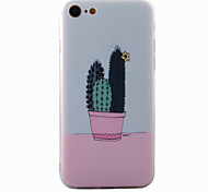 Para En Relieve / Diseños Funda Cubierta Trasera Funda Flor Dura Acrílico para AppleiPhone 7 Plus / iPhone 7 / iPhone 6s Plus/6 Plus /