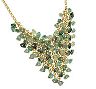 New Design Green Beads Statement Bib Collar Necklaces