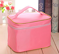 Makeup Storage Cosmetic Bag / Makeup Storage Nylon Solid 21*13*14.5 Pink