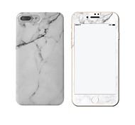 For IMD Case Back Cover Case Black and White Marble Soft TPU with Marble Tempered Glass Film Apple iPhone 7 7 Plus 6s 6 Plus
