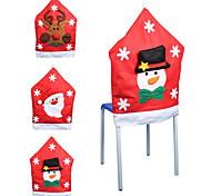 половина стерео нетканое рождества снеговика крышка стула 56 * 65см