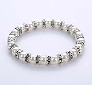 European And American Fashion Imitation Pearl Alloy Spacer Bracelet The Original Manual System Of A Single String