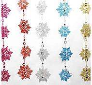 цветные рождественские снежинки букет 2-х метров длиной 10 снежинки