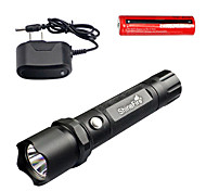 130 Lumen CREE Light Bulb 3W LED Aluminum alloy Flashlight with Charger with 18650 battery Outdoor Camping 1 Set