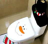 natal decorações vaso sanitário conjunto de natal originalidade de três peças sanita o boneco de neve com