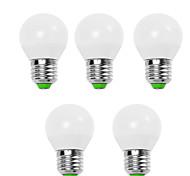 5w e14 / e26 / e27 светодиодные шариковые лампы g45 12 smd 2835 450 lm теплый белый / холодный белый декоративный v 5 шт.