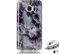 Для samsung galaxy s7 s6 край покрытие кейс мраморный рисунок покраска imd технология tpu материал телефон оболочка и пылезащитная заглушка комбинация