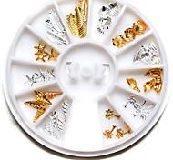1pcs Feather Shells Nail Art Decoration Rhinestone Nail Art Design