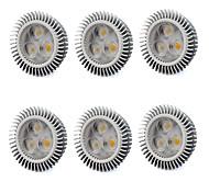6W GU5.3(MR16) LED Spot Lampen MR16 3 Hochleistungs - LED 560 lm Warmes Weiß / Kühles Weiß V 6 Stück