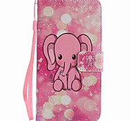 For Google Pixel XL Pixel Case Cover Pink Elephant Painted Lanyard PU Phone Case