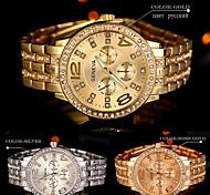 New hot Arrival Quartz Gold Women Men Watch Luxury Diamond Stainless Steel Ladies Male Geneva Wristwatch Montre Homme Femme