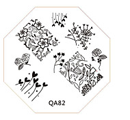 Nail Art Stamp Stamping Image Template Plate QA Series