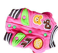 Dog Coat Pink Dog Clothes Winter / Spring/Fall Solid Cute