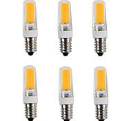4W E14 Screw Base Led Bulb COB Spotlight for Home Chandlier Desk Table Lamp 220V - 240V AC (6 Pieces)