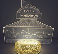 2016 Hot Selling Newest Christmas 2W 3D Effect Led Night Lamp