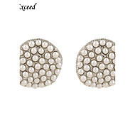 Brand New Arrival Cute Lovely Geometric Imitation Pearl Stud Earring For Ladies ER119773