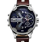 Hombre Reloj Deportivo / Reloj Militar / Reloj de Vestir / Reloj de Moda / Reloj de Pulsera CuarzoCalendario / Dos Husos Horarios / Punk