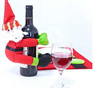 champagne vinho vermelho de Santa garrafa boneco de coisa garrafa
