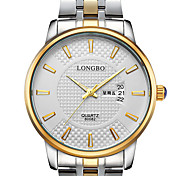 LONGBO Men's Sport Watch Dress Watch Quartz Water Resistant / Water Proof Stainless Steel Band Casual Silver