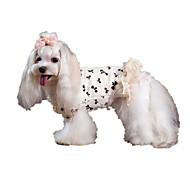 Dog Coat Dog Clothes Keep Warm Bowknot White