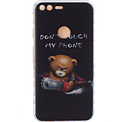 For Google Pixel XL Pixel TPU Material Bear Pattern Wave Non-Slip Painting Phone Case