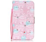 For Card Holder Flip Pattern Case Full Body Case Elephant Hard PU Leather for LG K10  LG K8  LG K7  LG LS770 LG LS775 LG V20 LG X POWER LG X SCREEN